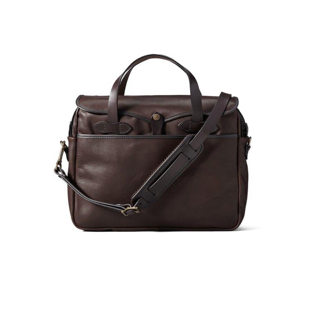 (フィルソン) Filson WEATHERPROOF LEATHER ORIGINAL BRIEFCASE 肌触りの良い革製品オリジナルのブリーフケース [並行輸入品] One Size Sierra Brown B07FFLG5VW