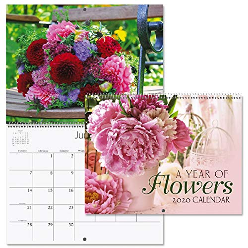 2020 A Year of Flowers Wall Calendar- 12