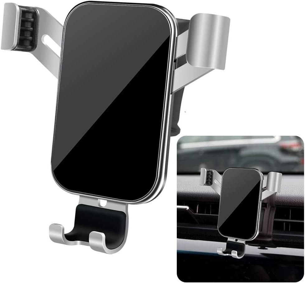 Big Phones with Case Friendly Auto Accessories Navigation Bracket Interior Decoration Mobile Cell Mirror Phone Mount LUNQIN Car Phone Holder for 2018-2020 Toyota Camry