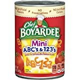 Chef Boyardee Mini ABC's & 123's in Tomato and Cheese Sauce, 15 Oz. (Pack of 12)