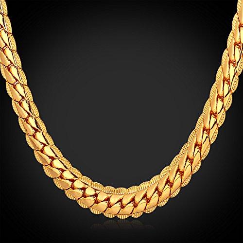 U7 Men 18k Gold Plated Necklace With 18kgp Stamp Hip Hop