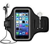 iPhone SE/5/5S, iPod Touch 5/6 Armband, JEMACHE Gym Running Workout/Exercise Arm Band Case for iPhone SE/5/5S/5C, iPod Touch 4/5/6 Generation with Key/Card Holder