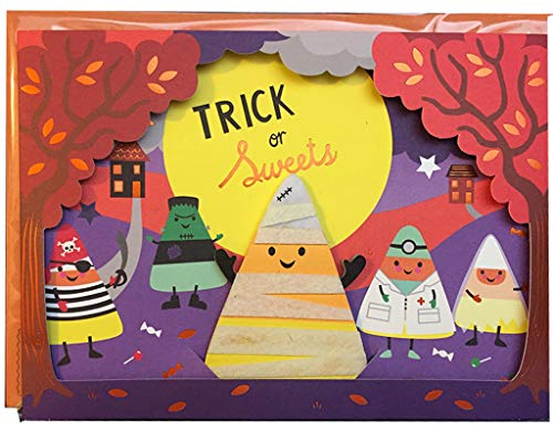 Halloween Card Candy Corn Puppet on Stage