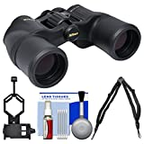 Nikon Aculon A211 8x42 Binoculars with Case with Harness Strap + Smartphone Adapter + Cleaning Kit