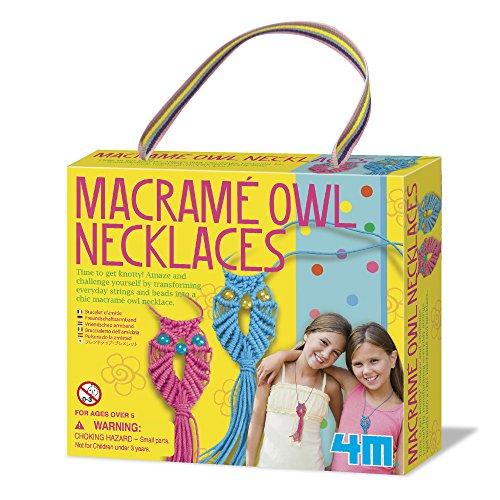 4M Macram%C3%A9 Owl Necklace Kit product image