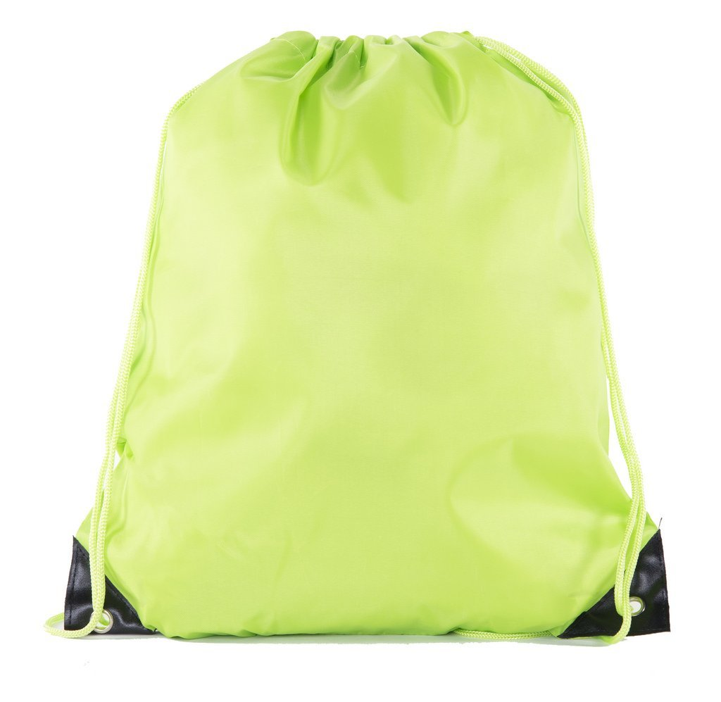 Mato & Hash 25 Bags - Double Strap Drawstring Gym Sack Promotional Party Favor Bag - 15 Colors 25 Bags Athletic Gold CA2500