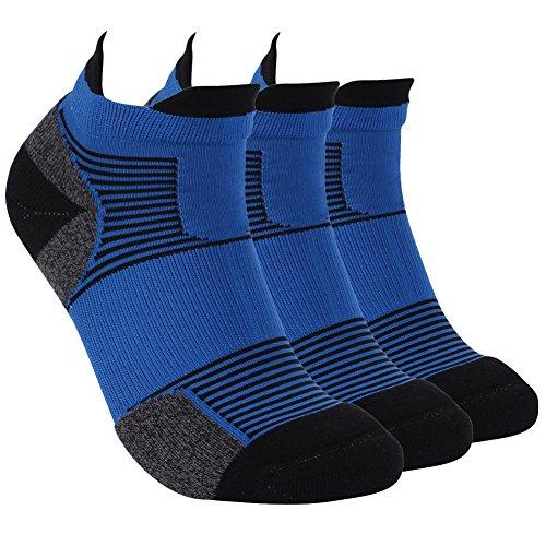 スポーツソックス, Laili ユニセックス 運動 靴下 トレッキング 1/3足組 24-27cm パイル 厚手 通気吸汗 抗菌防臭 ショートソックス