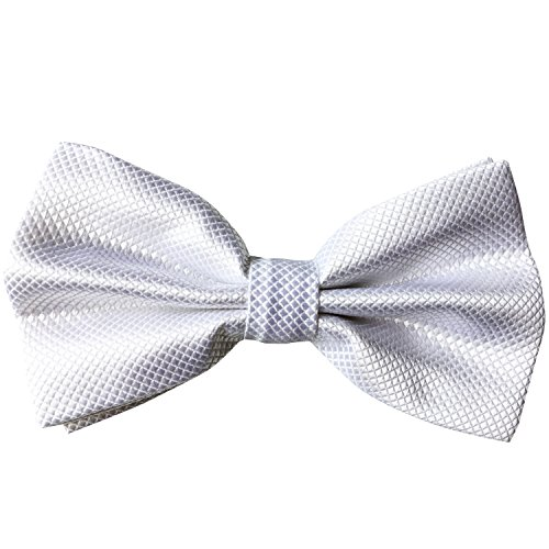 Adjustable White Bow Ties for Mens White Bow Tie Men Clip on Bow (All White Party Outfits Men)