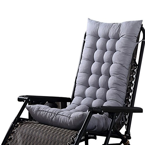 yubinyu Solid Color Home Indoor/Outdoor High Back Rocking Chair Cushion (49