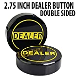 Poker Dealer Button - 3 inch Hockey Puck Style Double Sided