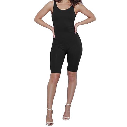 e7e15b26432 Bodycon4U Women's Sport Workout Fitness Leotard Unitard Short Jumpsuit  Romper Bodysuit