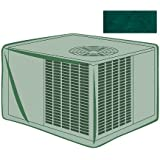 Outdoor Furniture All-Weather Cover for Square Air Conditioner, in Green