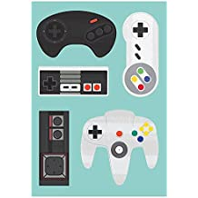 Plaquinhas Decorativas Kit 10 Und Consoles Retro Games