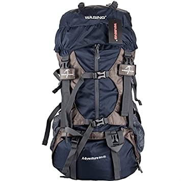 WASING 55L Internal Frame Backpack for Outdoor Hiking Travel ...
