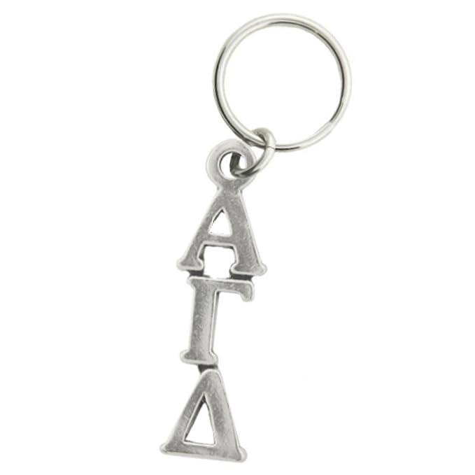 Amazon Alpha Gamma Delta Keychain Pewter Greek Letters Clothing