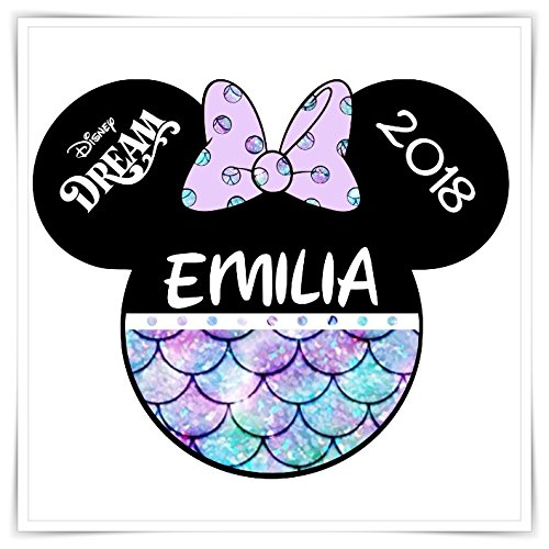 PERSONALIZED Disney Inspired Cruise Mermaid Magnet. Handmade Little Mermaid Disney Cruise Magnet. Disney Inspired Minnie Mickey Head.