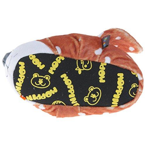 Tierhausschuhe REH Kitz Tier Hausschuhe Pantoffel Puschen Schlappen Kuscheltier Plüsch Mädchen Braun 29-35, TH-RE Braun