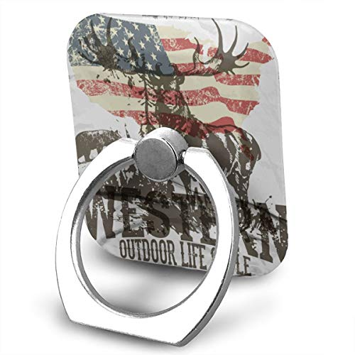 SJWE0 Cell Phone Holder,Universal Metal Smartphone Ring Grip Stand for iPhone/Ipad/Samsung HTC/Nokia/Smartphones/Tablet Wild Camping ()