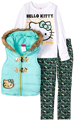 Hello Kitty Little Girls' 3 Piece Tee, Vest, and