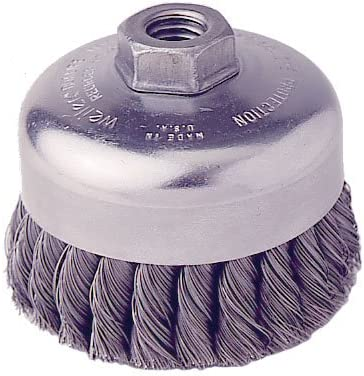 Knotted Partial Twist Stainless Steel Bristles Weiler 12406-4 Cup Brush with 1 Row of 1-1//4 Long x 0.014 Dia
