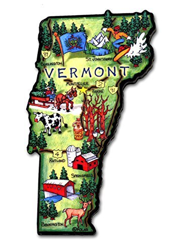(ARTWOOD MAGNET - VERMONT STATE MAP)