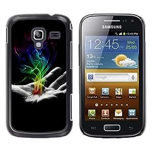 LECELL--Funda protectora / Cubierta / Piel For Samsung Galaxy Ace 2 -- Mano de humo --