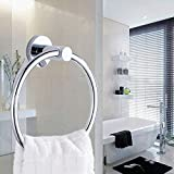 Stainless Steel Towel Ring Single Wall Mounted Chrome Towel Rings Holder for Bathroom