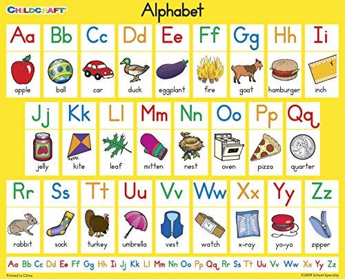 Childcraft Student Sized English Alphabet Chart, 11 x 9 Inches, Set of 25