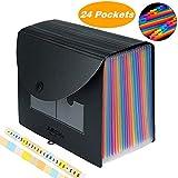 24 Pockets Expanding File Folder/Accordian File