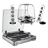 AudioTechnica AT-LP60 Fully Automatic Stereo 2-Speed Turntable System (Silver) with Harman Consumer SoundSticks III 2.1 Plug and Play Multimedia Speaker System