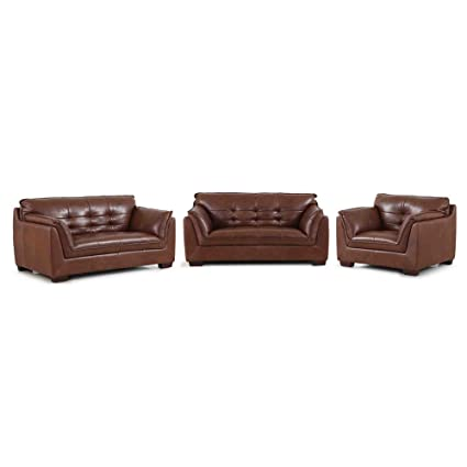 Evok Barclay Six Seater Sofa Set 3 2 1 (Dark Tan)