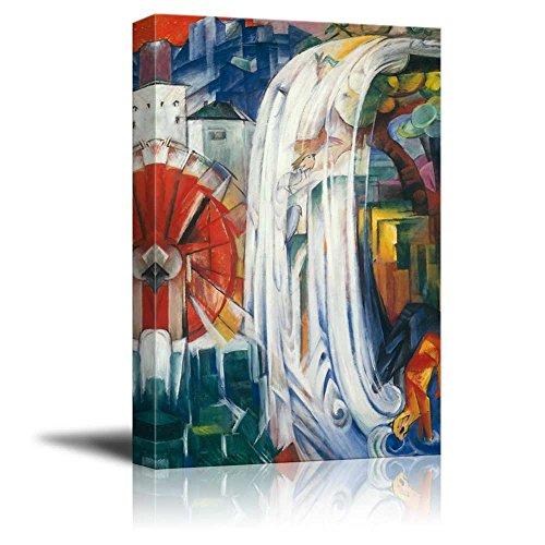 wall26 - The Bewitched Mill by Franz Marc - Canvas Print Wall Art Famous Painting Reproduction - 24