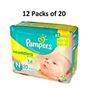 Pampers Swaddlers Size Newborn (12 Packs of 20 = 240 count)