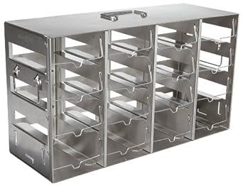 Nalgene 5039-0048 Stainless Steel Horizontal Storage Rack for Multiwell Plates, 16-Shelf, 13.9cm Depth x 38.7cm Width x 21.6cm Height