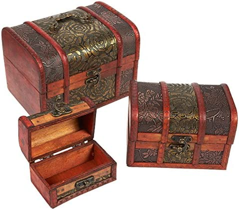 Piece Wooden Treasure Box Keepsake product image
