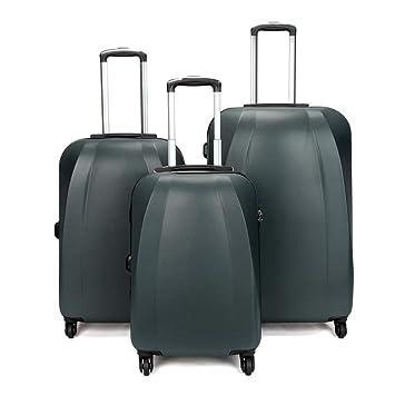 Viaje llevar equipaje de cabina Hardshell Luggage Juego de 3 piezas 20in 24in 28in Maleta giratoria Ligeros conjuntos anidados Maleta vertical montada 360 ...
