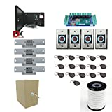 Complete 4 Door Access Control Packadge with Elecontronic Door Locks, Security Readers, Fobs, Power Supply and Cable