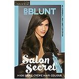 BBLUNT Salon Secret High Shine Creme Hair Colour, Natural Brown 4.31, 100g with Shine Tonic, 8ml