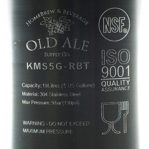 5 Gallon Home Brew Keg - New Ball Lock - Stainless Steel Product Tank by Old Ale Homebrew & Beverage Supply Co. (Image #3)