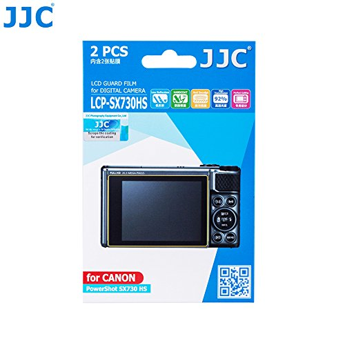 JJC 2PCS PET Film Screen Protector for Canon Powershot SX730 HS SX730HS SX740 HS SX740HS Digital Camera