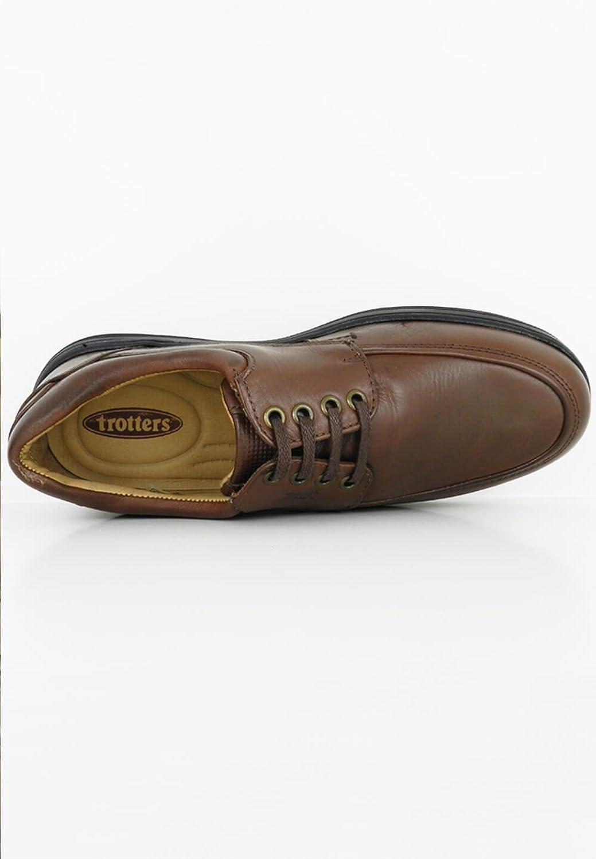 zapattu trotters - Zapatos de Piel Napa 89501-16 - Marrón, 42