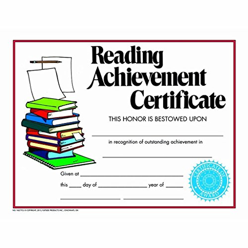 Reading Achievement Certificate - Matte Paper - Quantity 210 (Certificate Reading Achievement)