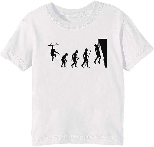 Gracioso Rock Alpinismo Evolución T Camisa Niños Unisexo Niño Niña Camiseta Cuello Redondo Blanco Manga Corta Tamaño 3XS Kids Boys Girls White XXX-Small Size 3XS: Amazon.es: Ropa y accesorios