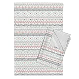 Tribal Geometric Abstract Southwest Stripe Trendy Nursery Tea Towels Southwest Tribal (Light) by Robyriker Set of 2 Linen Cotton Tea Towels