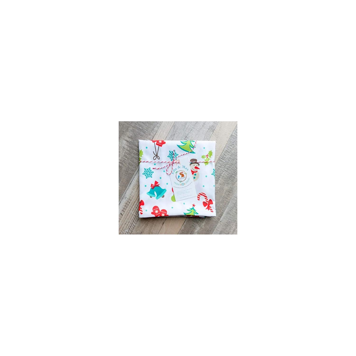CHRISTMAS PILLOW CASE TODDLER or TRAVEL Size. SOFT & CUDDLY. Fits 13×18 & 14×19 toddler pillows. Easy to wash & no ironing. Handmade in USA. Made of luxury microfiber fabric. (Wonderland)