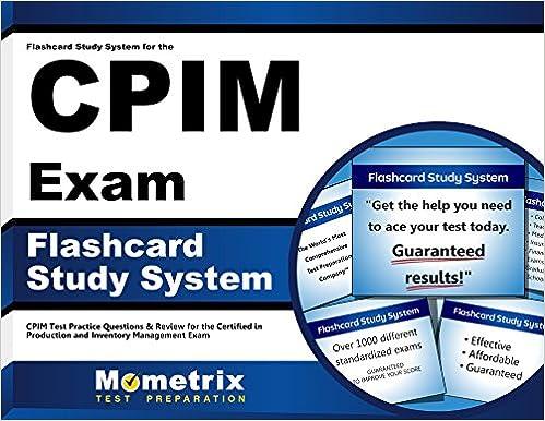 Flashcard Study System for the CPIM Exam: CPIM Test Practice