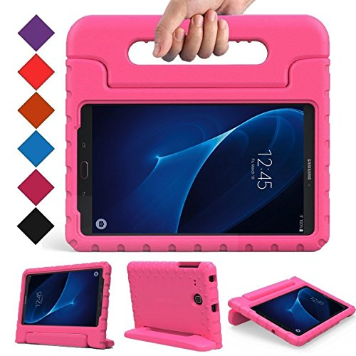 BMOUO Kids Case for Samsung Galaxy Tab A 7.0 - EVA ShockProof Case Light Weight Kids Case Super Protection Cover Handle Stand Case for Kids Children for Samsung Galaxy Tab A 7-inch Tablet - Rose