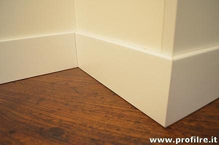 battiscopa in legno massello bordo quadro (prezzo per ml.11 ...