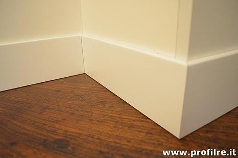 battiscopa in legno massello bordo quadro (prezzo per ml.11): Amazon ...