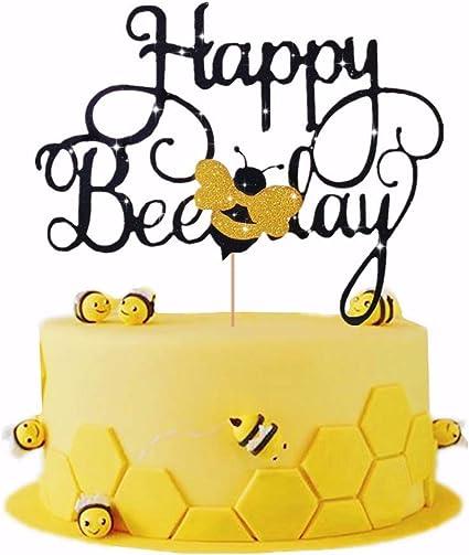 Astonishing Laventy Happy Bee Day Cake Topper Bumble Bee Cake Topper Bumble Funny Birthday Cards Online Inifofree Goldxyz